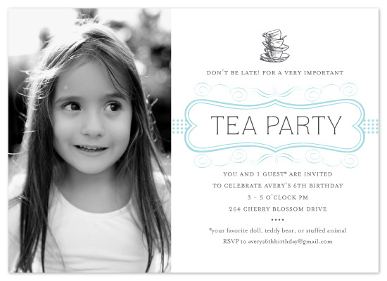 birthday party invitations - A Proper Tea Party by cambria