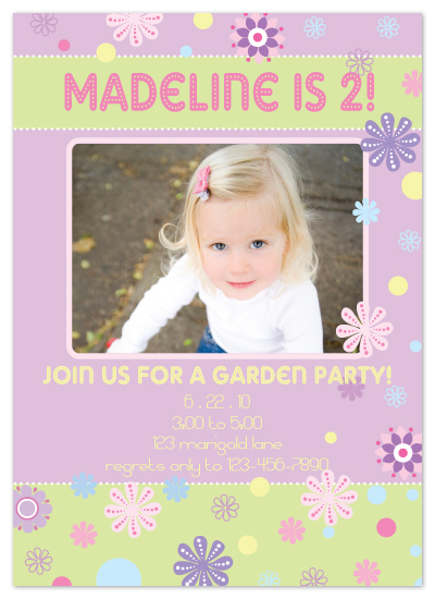 birthday party invitations - Falling Petals by Stacy Splonski