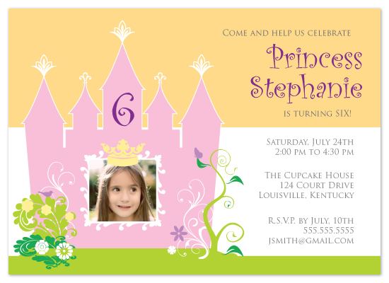 birthday party invitations - Princess Party by Jennifer C