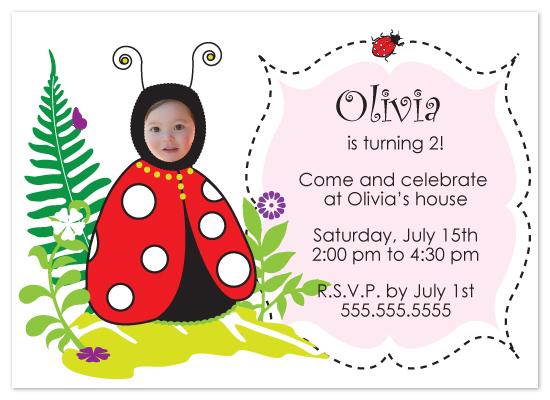 birthday party invitations - Little Ladybug Party by Jennifer C