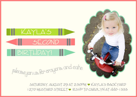 birthday party invitations - Color Me Birthday by Cori Sands