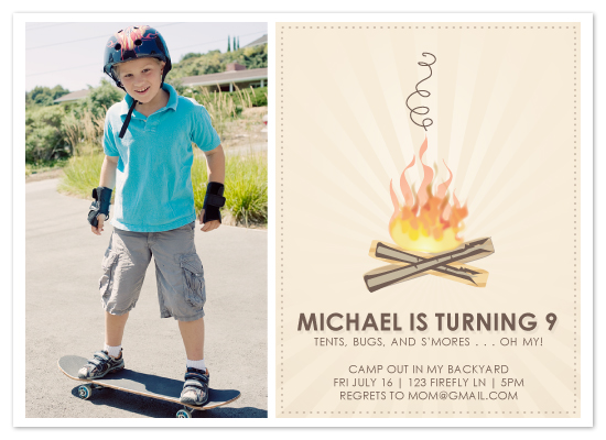 birthday party invitations by the campfire at minted com