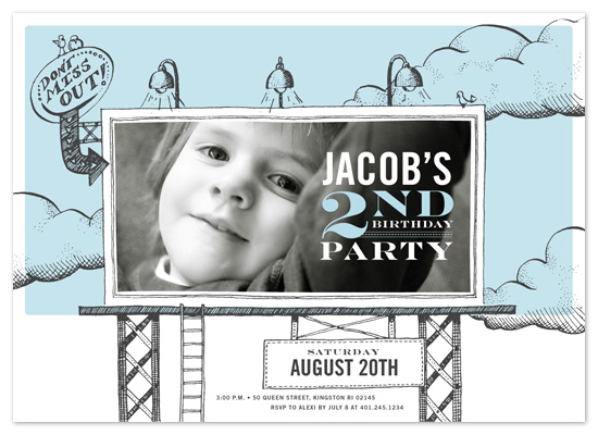 birthday party invitations - birthday billboard by pottsdesign