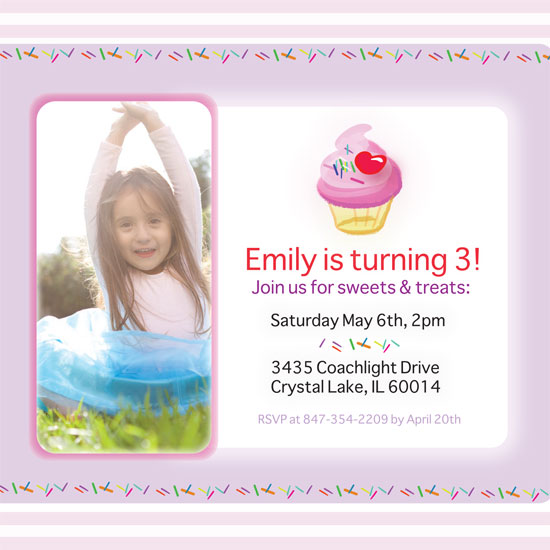 birthday party invitations - Sprinkles & Sweets Celebration by Julia