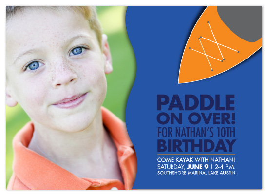 birthday party invitations - Kayak Party by The Speckled Duck