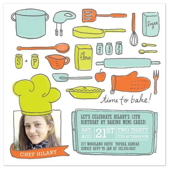 birthday party invitations - Le Petit Chef by Moglea