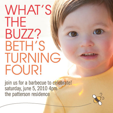 birthday party invitations - Bumble Bee Birthday by Amy Walker
