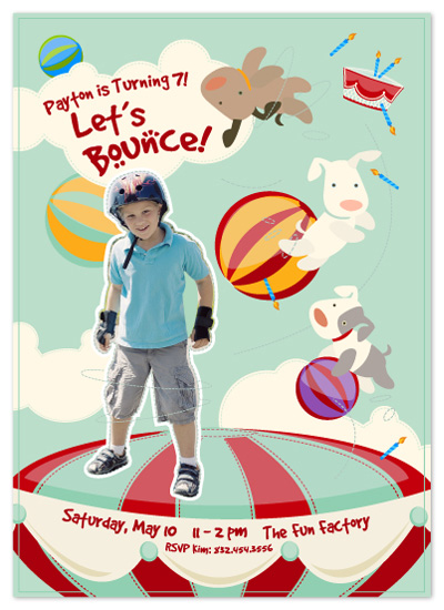 birthday party invitations - Let's Bounce! by Hello & Co.