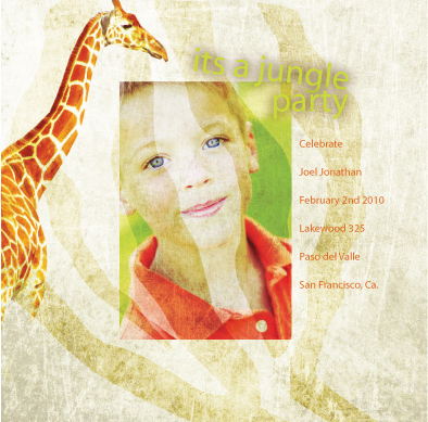birthday party invitations - jungle2 by Aleida Armijo