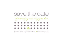 save the date cards - daisy calendar by kelli hall