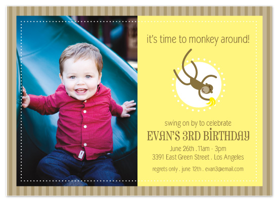 birthday party invitations - Monkey Around by Sashi & Miko
