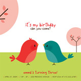 birthday party invitations - happy birdie to you by Guess What Design Studio
