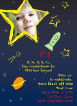 Blast Off Invitation by Amy Smith