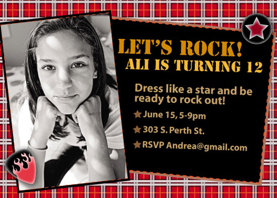 birthday party invitations - Save The Queen Rock Party by Fanny Ann