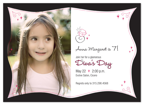 birthday party invitations - Diva's Day by KWDesign