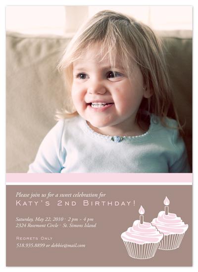birthday party invitations - Cupcake Celebration by Cami