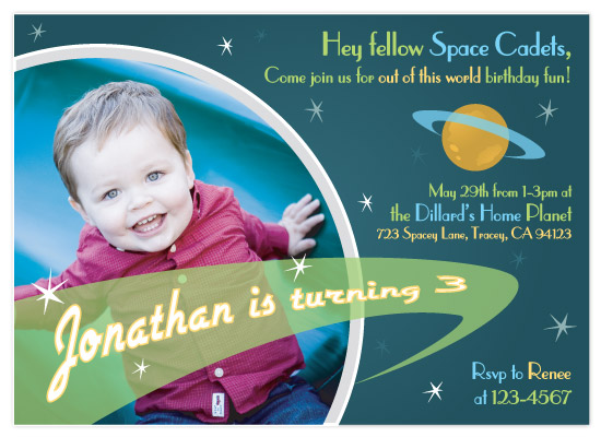 birthday party invitations - Planet Me! by CBeeProject