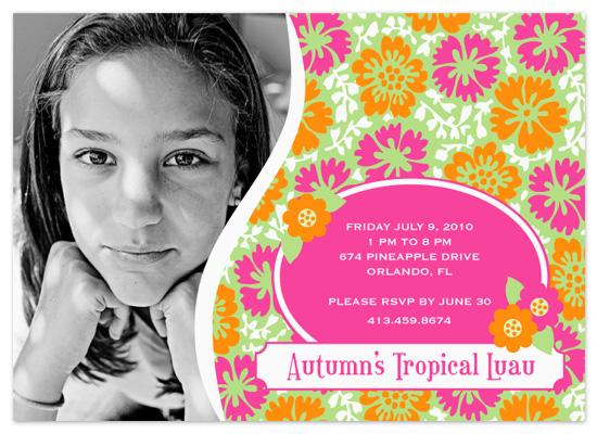 birthday party invitations - Haute Hawaiian by Eutopia Events