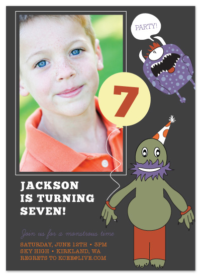 birthday party invitations - Monsters vs. Aliens by Maria E