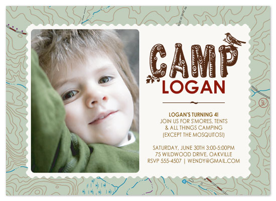 birthday party invitations - Campout Party by Jeni Paltiel