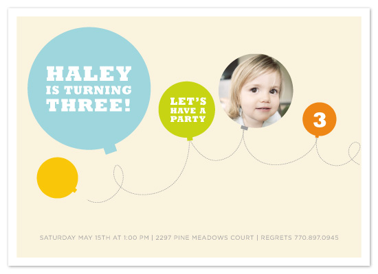 birthday party invitations - Up  by chica design