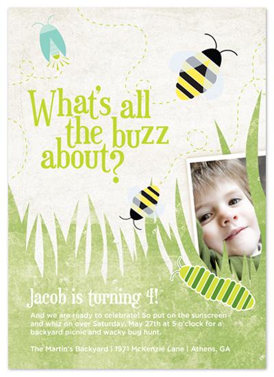 birthday party invitations - All the Buzz Birthday Invite by Heidi