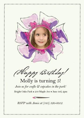 birthday party invitations - Fifth Crafty Birthday Celebration by Julia
