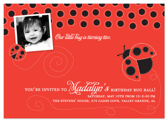 birthday party invitations - Our Little Bug by Heidi