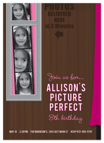 birthday party invitations - Picture Perfect by Ann Gardner