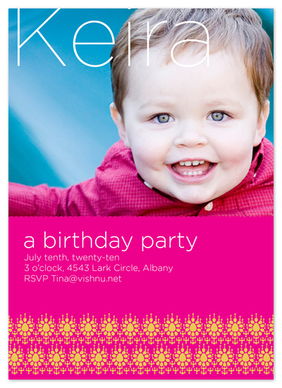 birthday party invitations - Delhi by Alex Elko Design