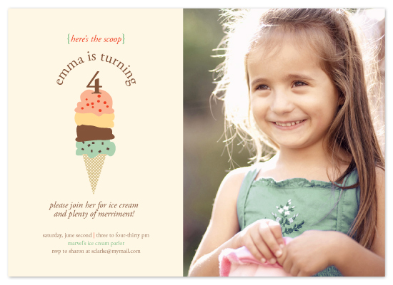 birthday party invitations - here's the scoop by Karen Glenn