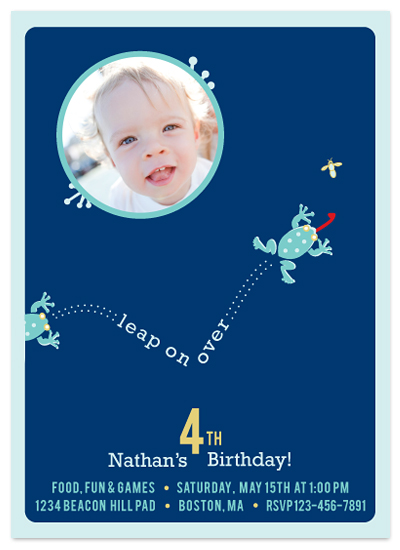 birthday party invitations - leap on over... by MAGG + LOUIE