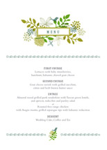 menu cards - fling by Andrea Mentzer