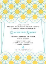 bridal shower invitations - Deco Lights by Cococello