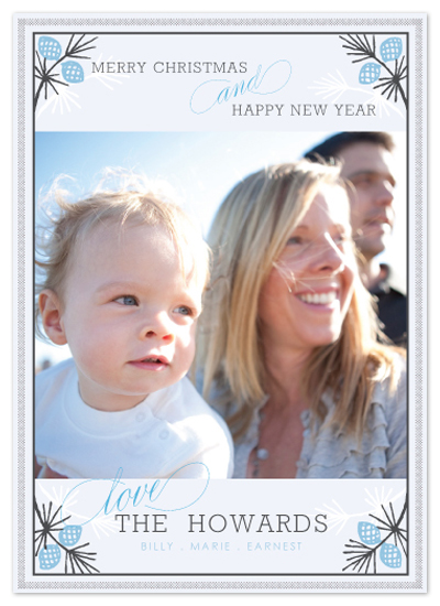 holiday photo cards - Frosted Pine by Design Lotus