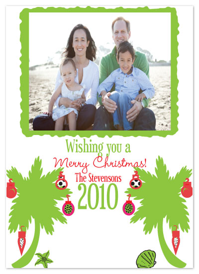 holiday photo cards - Palm Christmas by Etched