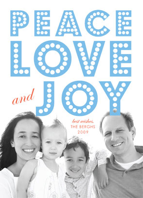 holiday photo cards - float + peace by Float Paperie