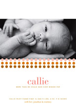 birth announcements - callie by pottsdesign