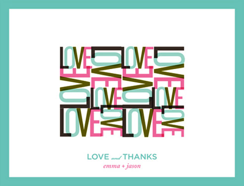 thank you cards - All you need is... by LOVEkacie