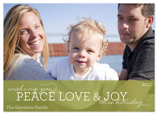 holiday photo cards - Sweet Green by Alison Michael