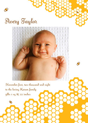 birth announcements - Baby Bee by Candice Leigh