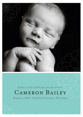 birth announcements - Subtle Dahlia by Candice Leigh