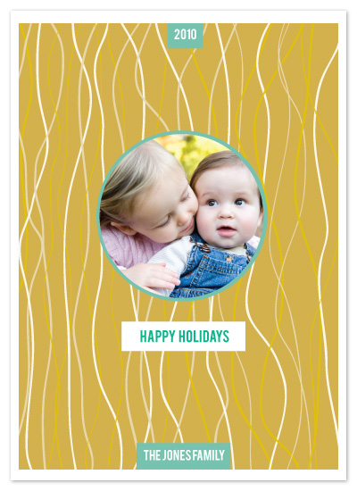 holiday photo cards - confetti lines by Katie Leggitt