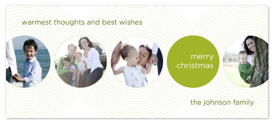holiday photo cards - Circles by Katie Venti