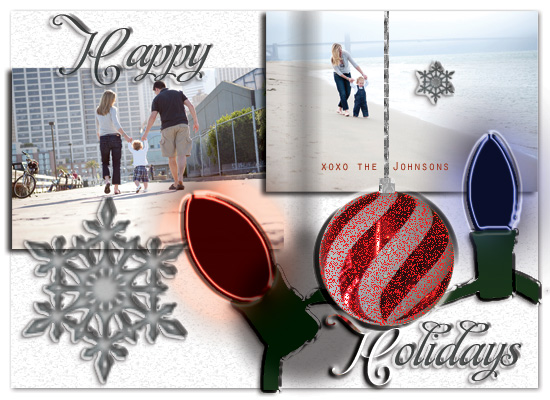 holiday photo cards - Scrapbook Christmas by Jessica Termini