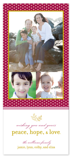 holiday photo cards - peace leaves by Katie Leggitt