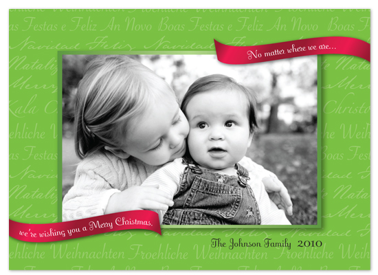 holiday photo cards - The Language of Christmas by Bridget Collins