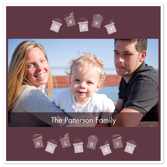 holiday photo cards - Pretty Packages by Bridget Collins