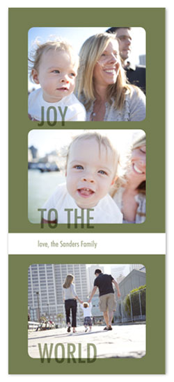 holiday photo cards - Joy to the World by Katie Venti
