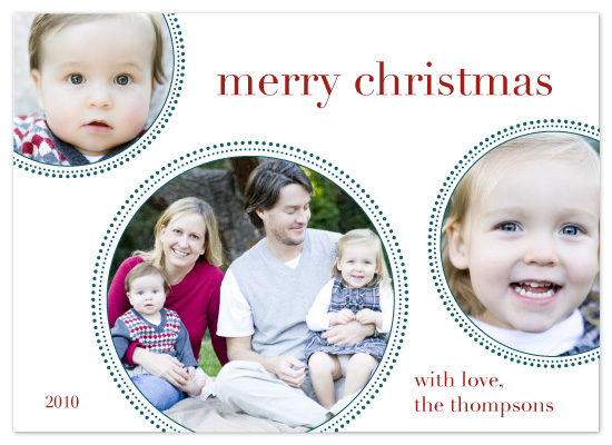 holiday photo cards - 3 Circle Dot by Katie Venti